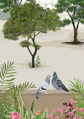 Painting - A quiet afternoon by Nehal Desai
