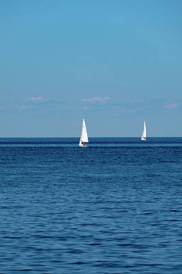 Photograph - Blue sea and the sailors by Farzad Frames