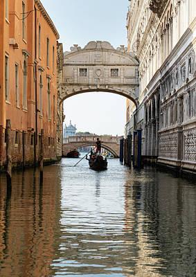 Photograph - Bridge of Sighs with Gondola by Marion Rockstroh-Kruft