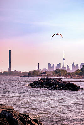 Photograph - City photography of Toronto at sunset by Farzad Frames