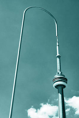 Photograph - CN Tower sometimes looks different by Farzad Frames