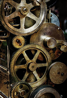 Photograph - Gears Cinemagraph Projector by Bud Simpson