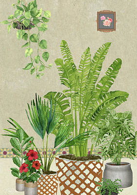 Painting - House Plants by Nehal Desai