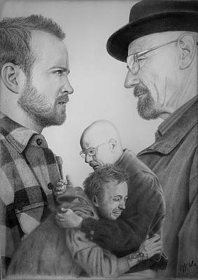 Drawing - Jesse and Walt by Vanessa Cole