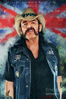 Mixed Media - Lemmy by Rico Kohlstedt