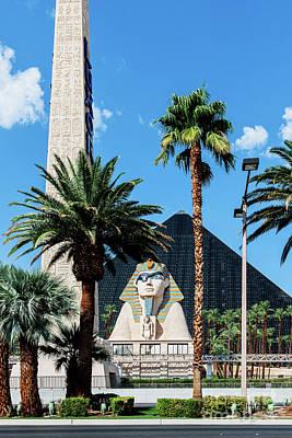 Photograph - Luxor Casino Las Vegas Raiders Eye Patch on Sphinx by Aloha Art