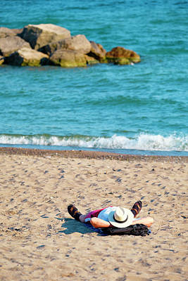 Photograph - On the beach and out of the picture by Farzad Frames
