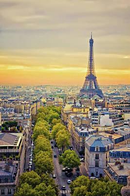 Photograph - Parisian Dawn by Millner Stephanie