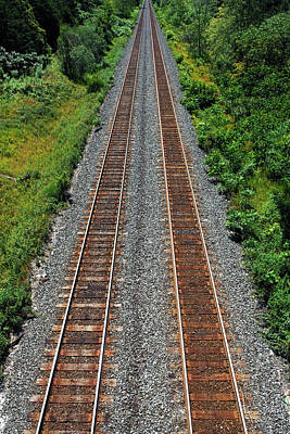 Photograph - Railroad to Paradise by Farzad Frames