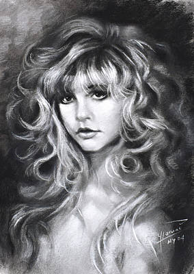 Curly Hair Girl Drawings Fine Art America