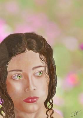 Digital Art - Thoughtful Woman by Christine Sherborne