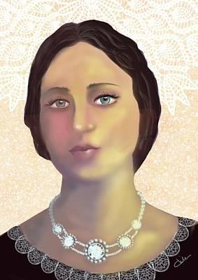 Digital Art - Victorian Woman by Christine Sherborne