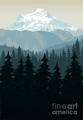 Designs Similar to Vintage Vector Mountains Forest