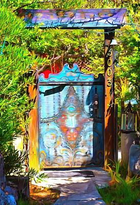 Painted Garden Gate Paintings