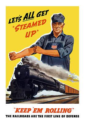 Vintage Railroad Paintings