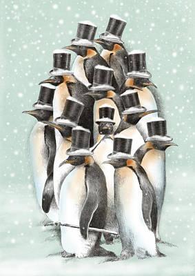 Penguins Drawings Prints