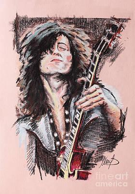 Jimmy Page Drawings Original Artwork