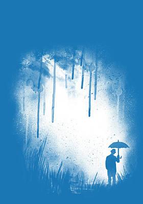 Umbrellas Digital Art