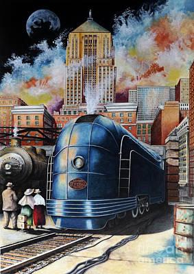 American City Scene Drawings Original Artwork