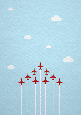Designs Similar to Raf Red Arrows In Formation