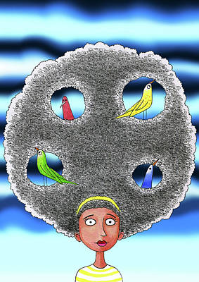 Flock Of Bird Mixed Media