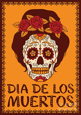 Designs Similar to Frame With Mexican Skull Girl