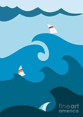 Designs Similar to Sailboat On Stormy Seas