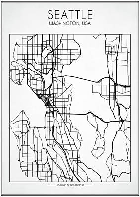 Designs Similar to Seattle Street Map