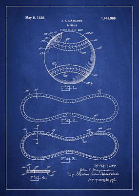Baseball Bat Patent Posters