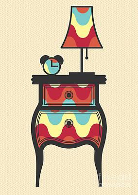 Night Lamp Drawings Prints