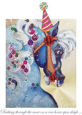 Carousel Horse Mixed Media Original Artwork
