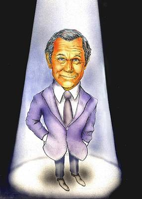 Johnny Carson Paintings Original Artwork