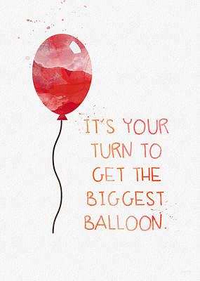 Red Balloon Mixed Media