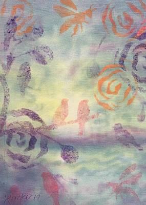 Silk Water Mixed Media Prints