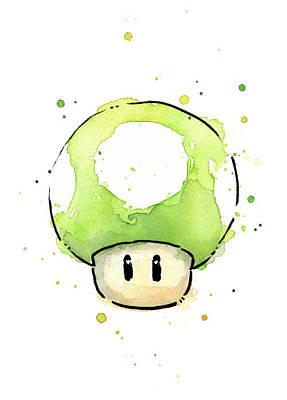 Designs Similar to Green 1up Mushroom