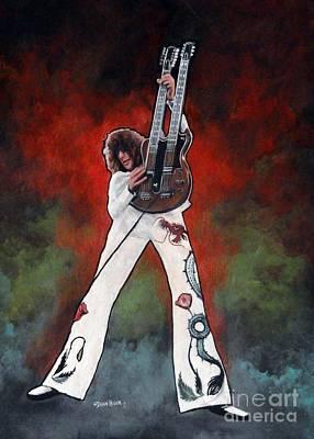 Led Zeppelin work Mixed Media Prints