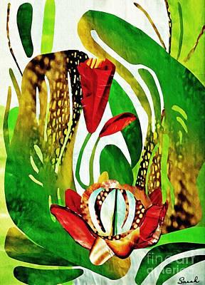 Lush Mixed Media Art