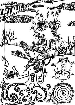 Balloon Flower Drawings Prints