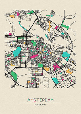 Designs Similar to Amsterdam, Netherlands City Map