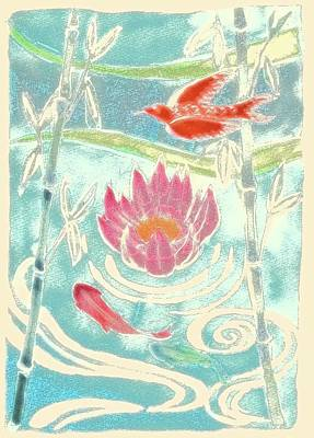 Designs Similar to Bamboo & Waterlily Illustration