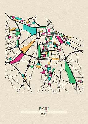 Designs Similar to Bari, Italy City Map