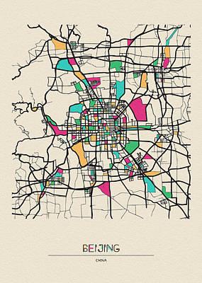 Designs Similar to Beijing, China City Map