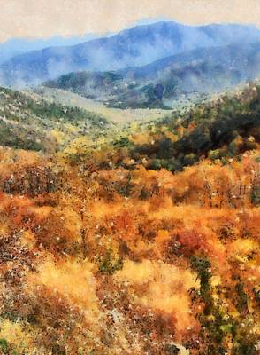 Colors Of Autumn Mixed Media Prints