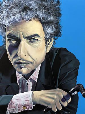 Bob Dylan Mixed Media Original Artwork
