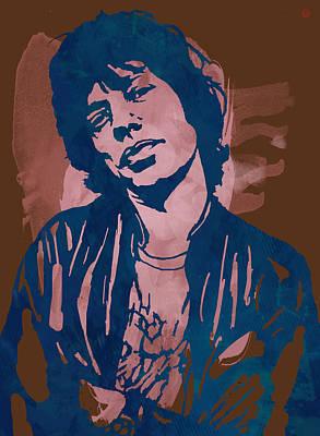 Mick Jagger And Keith Richards Mixed Media