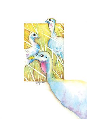 Young Turkey Original Artwork