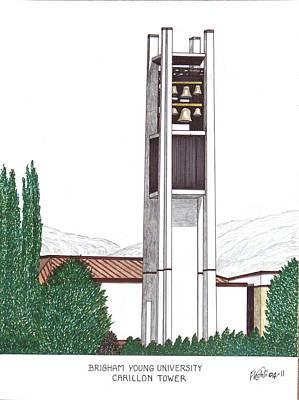 University Carillon work Mixed Media
