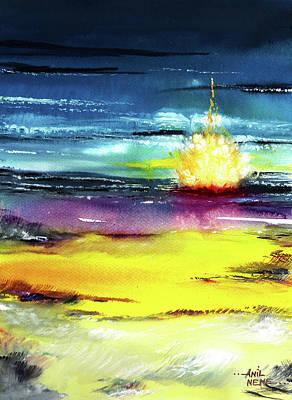 Amazing Sunset Drawings Prints