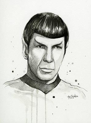 Designs Similar to Spock Watercolor Portrait