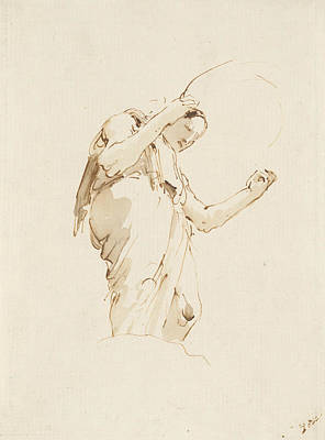 Designs Similar to Standing Woman Holding A Hoop